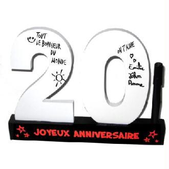 Dédicaces 3D anniversaire 20 ans - 23 x 29 cm