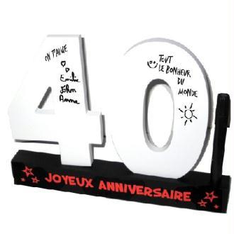 Dédicaces 3D anniversaire 40 ans - 23 x 29 cm