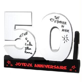Dédicaces 3D anniversaire 50 ans - 23 x 29 cm