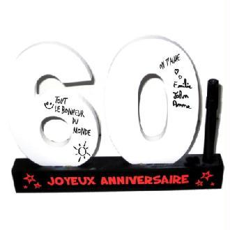 Dédicaces 3D anniversaire 60 ans - 23 x 29 cm