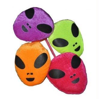 1 Peluche alien visage 12 cm ( couleurs assorties)