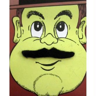 Moustache casanova noire