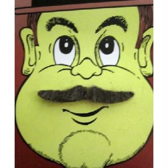 Moustache Casanova marron