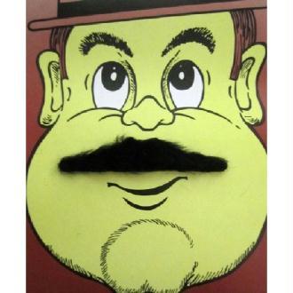 Moustache sir noire
