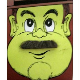 Moustache baron marron