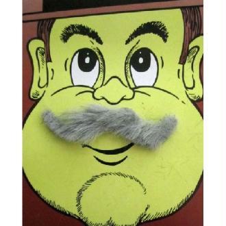 Moustache western grise