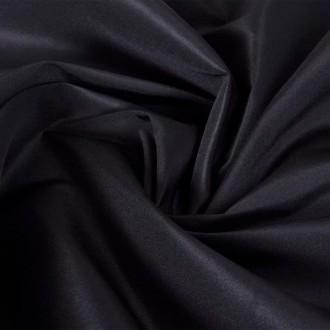 Tissu satin microfibre noir 1,45 x 20 m