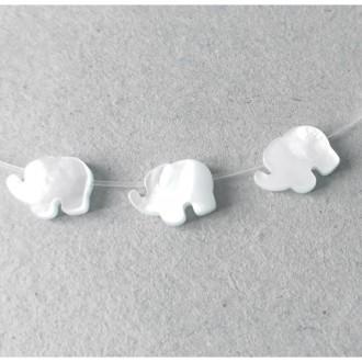 1x Perle Nacre Elephant 10mm NATUREL