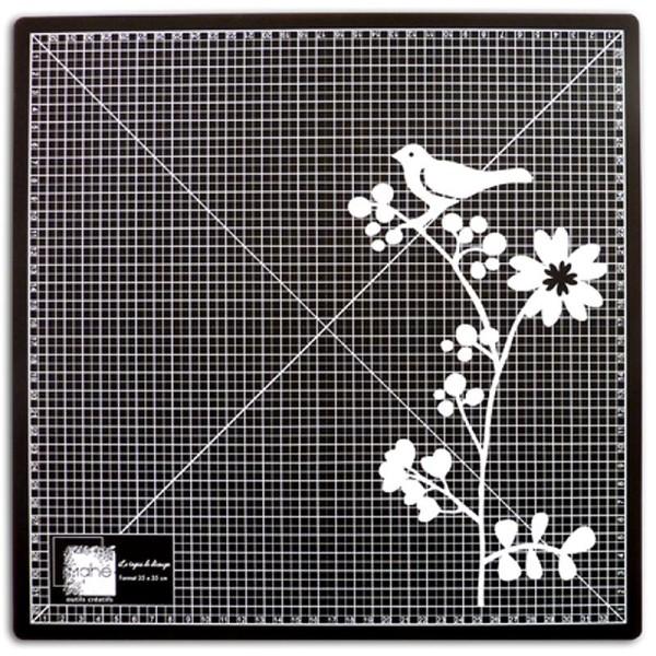 Tapis de découpe auto cicatrisant 35 x 35 cm noir - Photo n°1