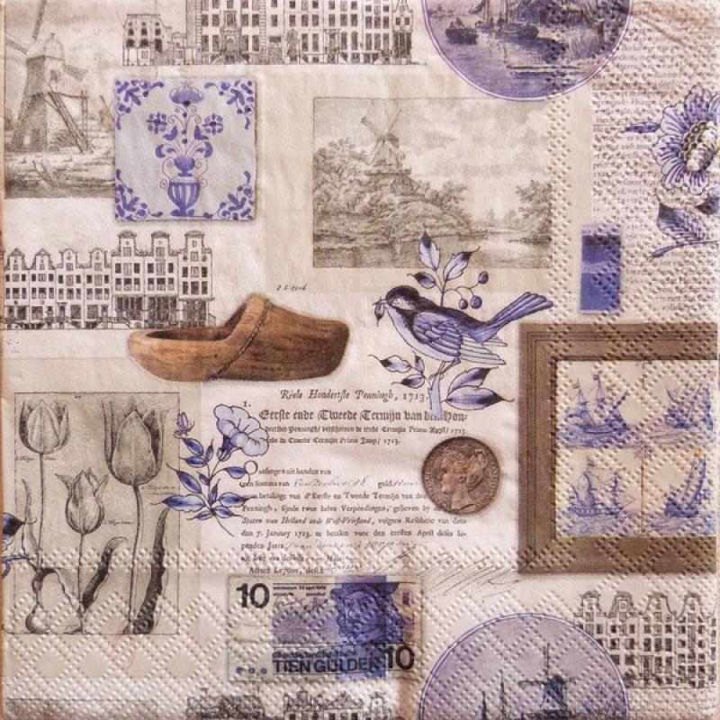 4 serviettes en papier d coupage collage 33 cm holland serviette en papier divers creavea. Black Bedroom Furniture Sets. Home Design Ideas
