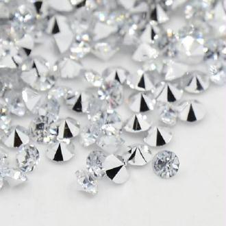 Lot de 100 cabochons strass cristal 6 mm