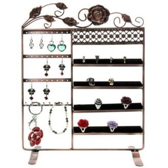 Porte bijoux porte bijoux cadre fleur boucle bracelet bague et accessoire Cuivre