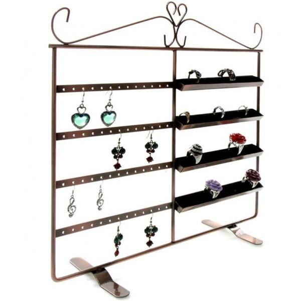 Porte bijoux porte bijoux cadre duo pour boucle d'oreille et bague Cuivre - Photo n°2