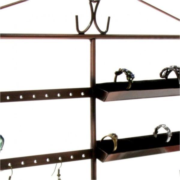 Porte bijoux porte bijoux cadre duo pour boucle d'oreille et bague Cuivre - Photo n°3