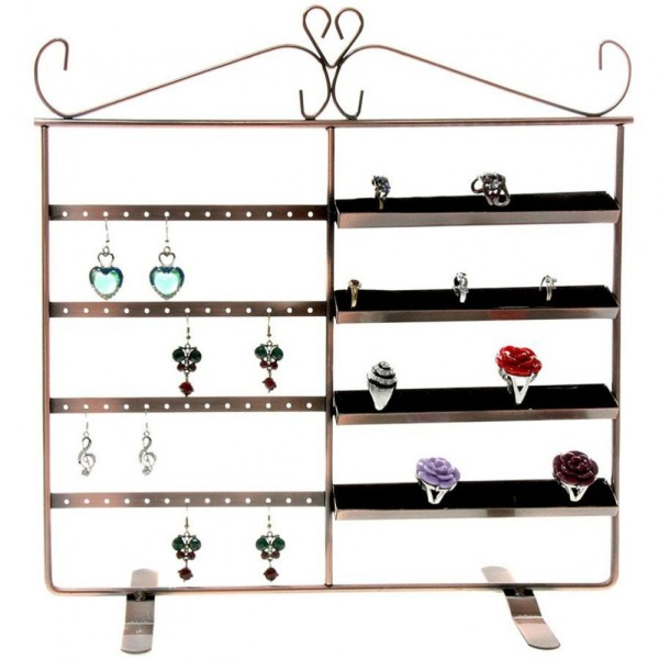 Porte bijoux porte bijoux cadre duo pour boucle d'oreille et bague Cuivre - Photo n°1
