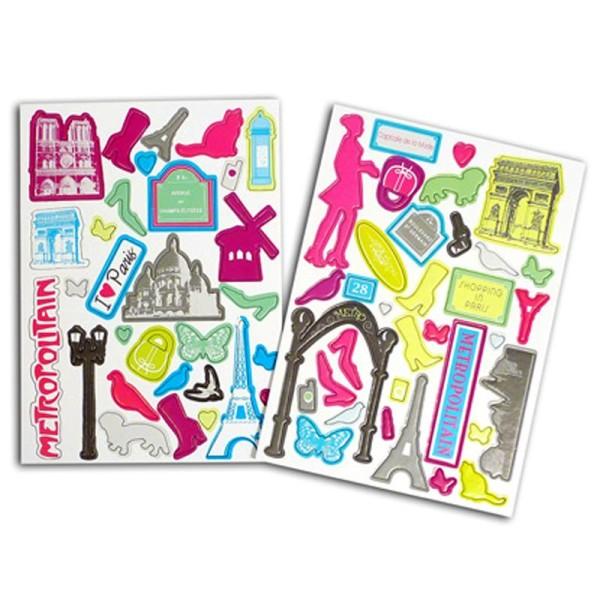 Chipboard Toga en carton Destination Paris x 74 - Photo n°1