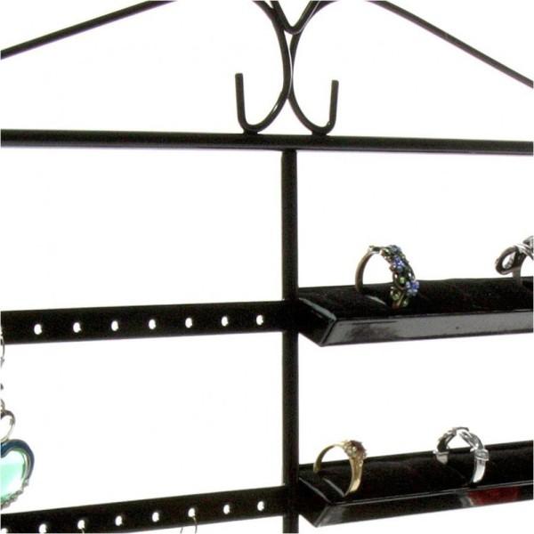 Porte bijoux porte bijoux cadre duo pour boucle d'oreille et bague Noir - Photo n°3