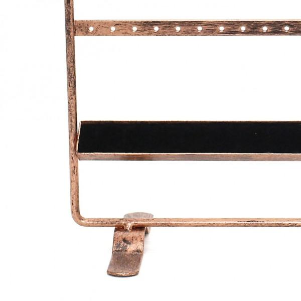 Porte bijoux tout-en-un boucle collier bague Cuivre patiné - Photo n°2