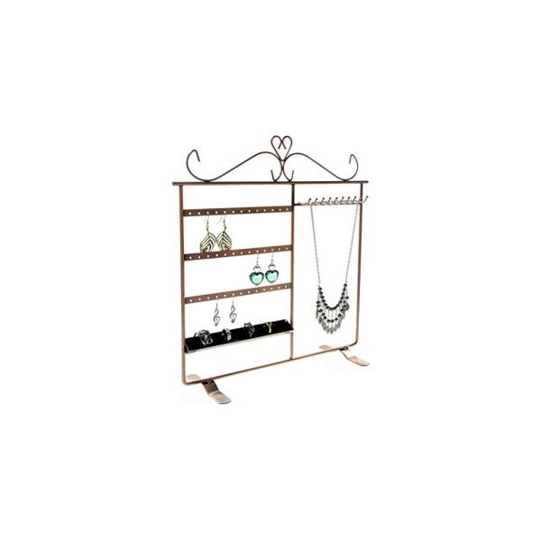 Porte bijoux tout-en-un boucle collier bague Cuivre - Photo n°3