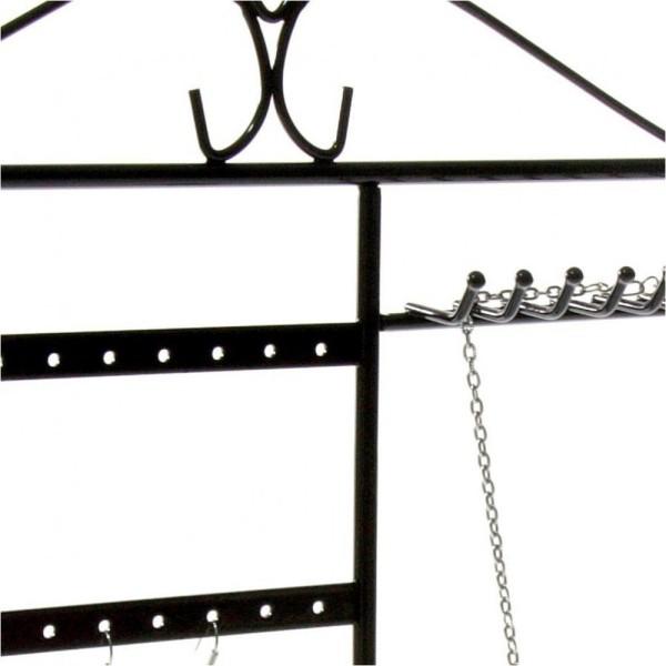 Porte bijoux tout-en-un boucle collier bague Noir - Photo n°2
