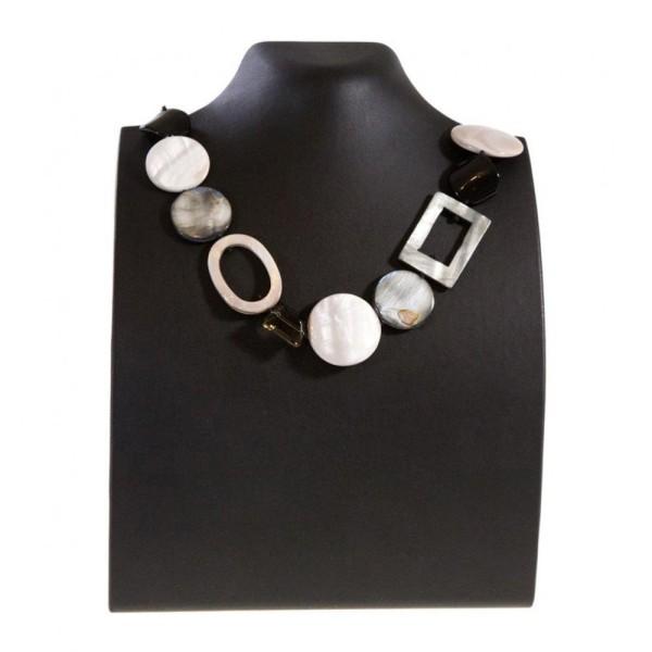 Porte bijoux presentoir pour collier buste droit de 18 cm Noir - Photo n°1
