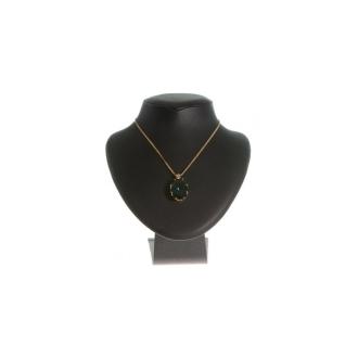 Porte bijoux presentoir collier buste en simili cuir de 20 cm Noir