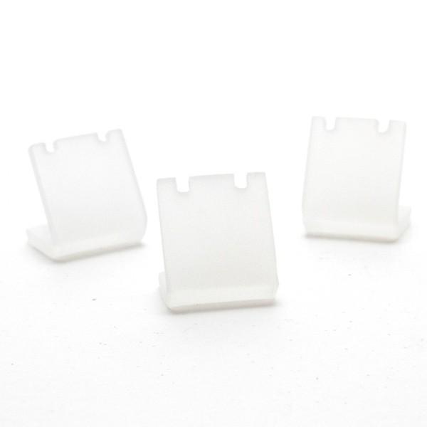 Porte bijoux mini support boucle d'oreille petit panneau 2 cm (1 paire) Translucide - Photo n°2