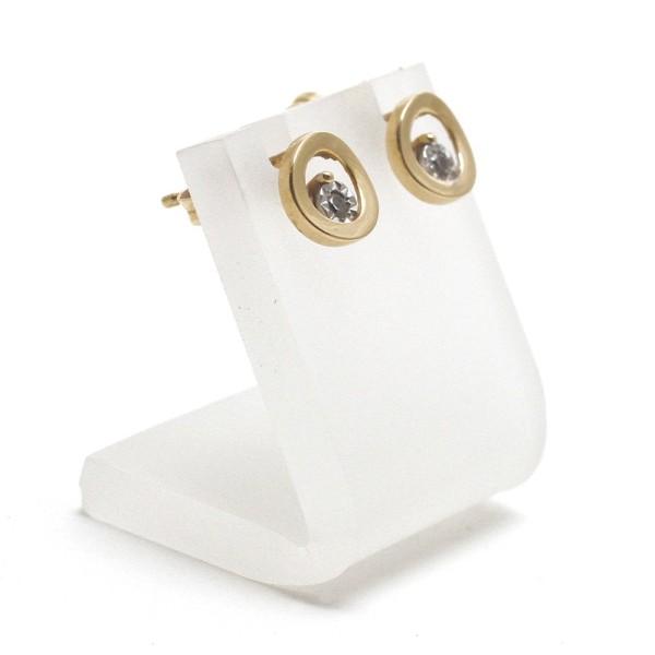 Porte bijoux mini support boucle d'oreille petit panneau 2 cm (1 paire) Translucide - Photo n°1