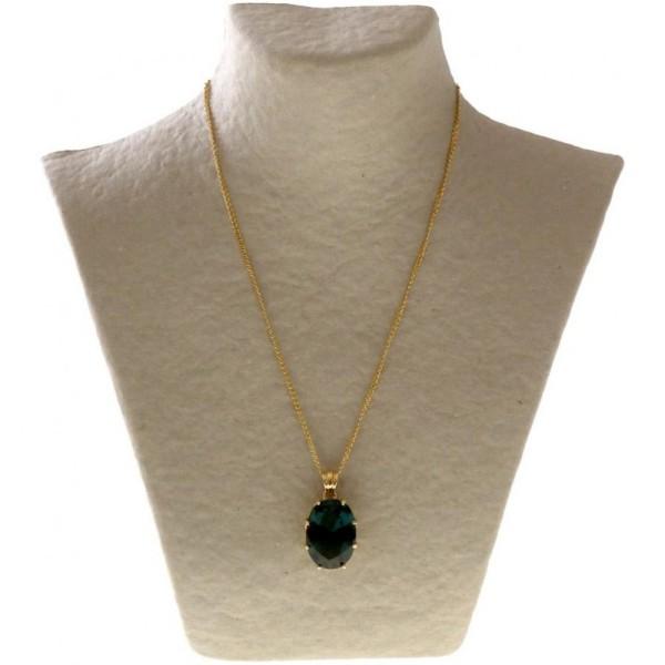 Porte bijoux buste porte collier en papier mâché 25 cm Beige - Photo n°2