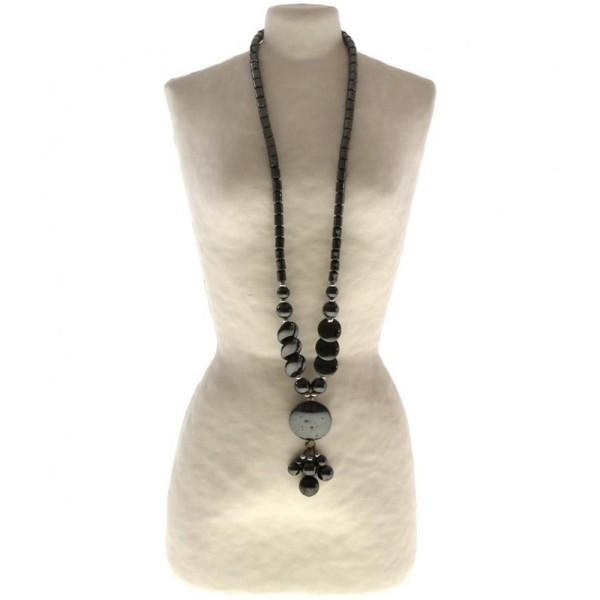 Porte bijoux buste porte collier long sautoir femme papier maché 28 cm Beige - Photo n°2