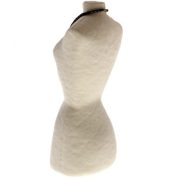 Porte bijoux buste porte collier long sautoir femme papier maché 28 cm Beige - Photo n°4