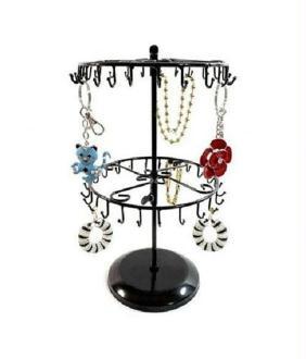 Porte bijoux porte bijoux et accessoires manège réglable à 40 crochets Noir