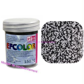 Poudre Structuré Noir Opaque Efcolor pour émaillage à froid à 150°C, 25ml