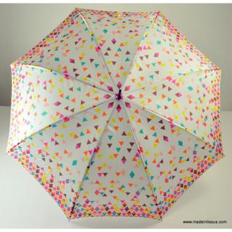 Parapluie Piganiol satin pixels triangles