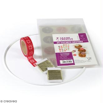 Kit Calendrier de l'avent - mobile avec sachets transparents