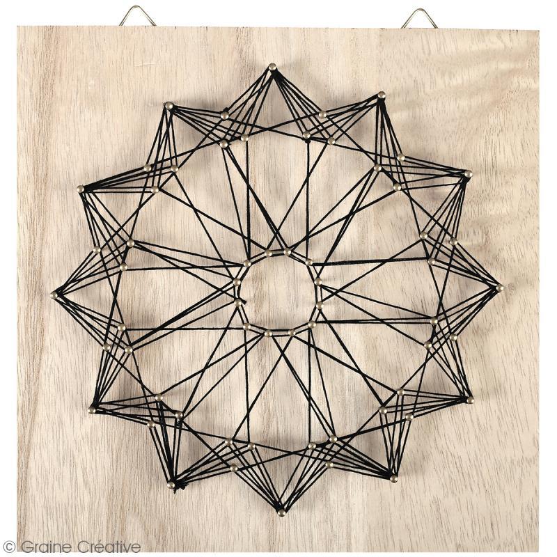 Kit tableau string art - Rosace - 22 x 22 cm - Photo n°2