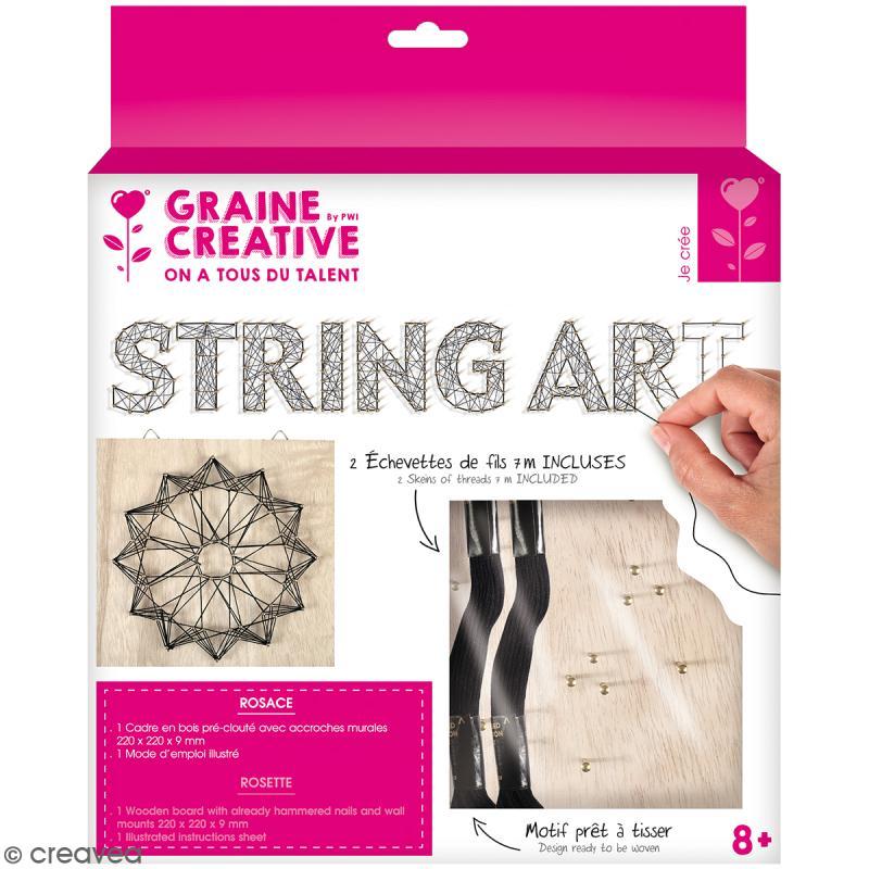 Kit tableau string art - Rosace - 22 x 22 cm - Photo n°1
