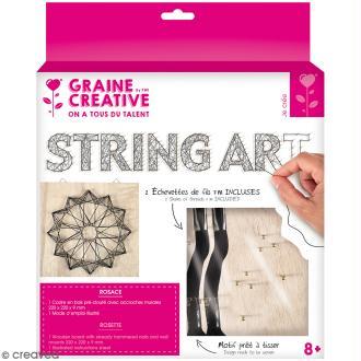 Kit tableau string art - Rosace - 22 x 22 cm