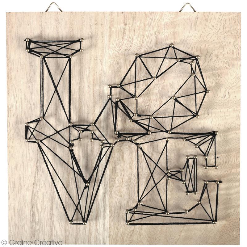Kit tableau string art - Love - 22 x 22 cm - Photo n°2
