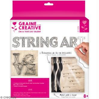 Kit tableau string art - Love - 22 x 22 cm