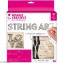 Kit tableau string art - Love - 22 x 22 cm - Photo n°1