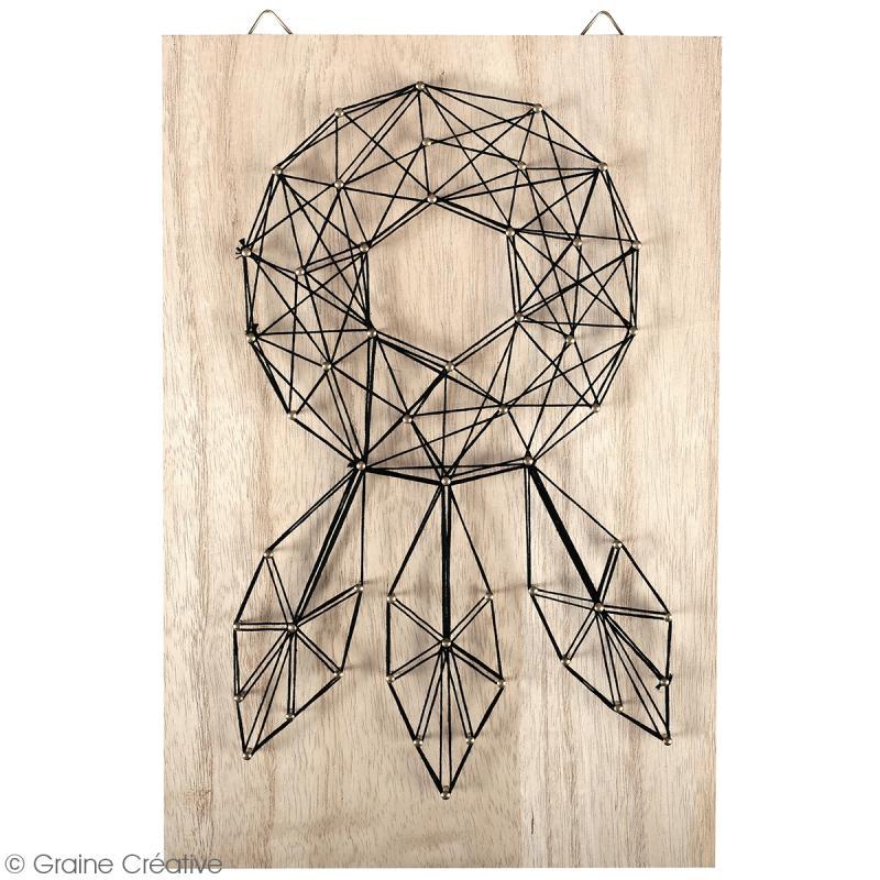 kit tableau string art attrape r ves 20 x 30 cm. Black Bedroom Furniture Sets. Home Design Ideas