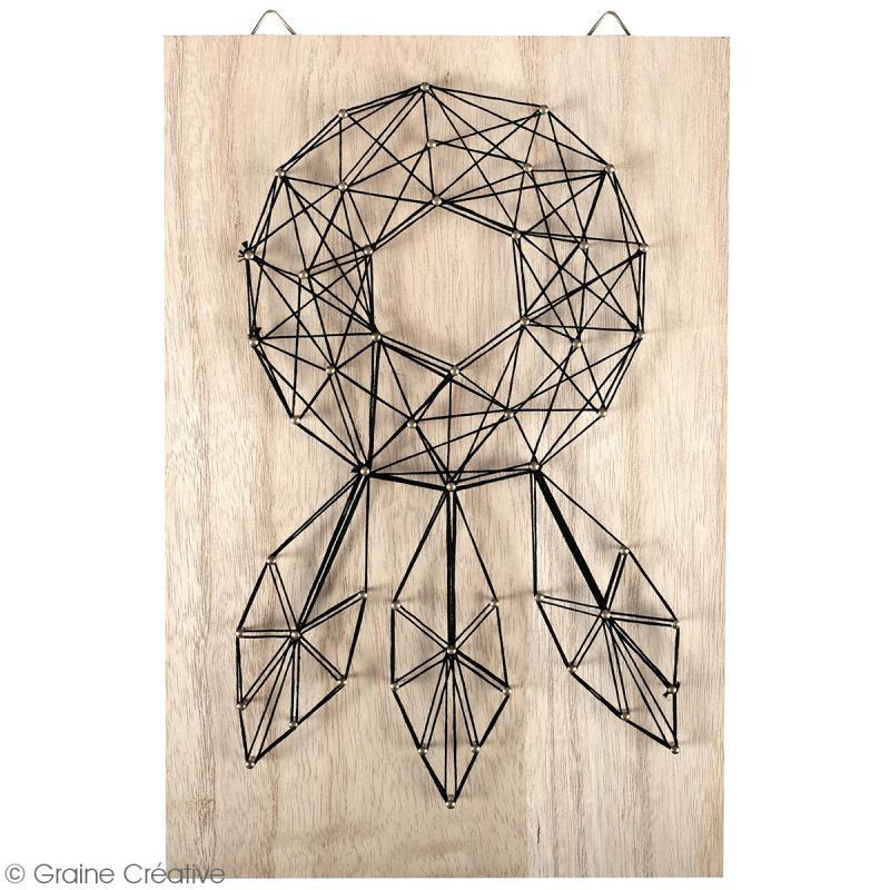 Kit tableau string art - Attrape-rêves - 20 x 30 cm - Photo n°2