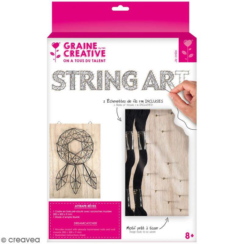 Kit tableau string art - Attrape-rêves - 20 x 30 cm - Photo n°1