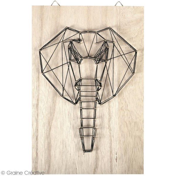 Kit tableau string art - Elephant - 20 x 30 cm - Photo n°2