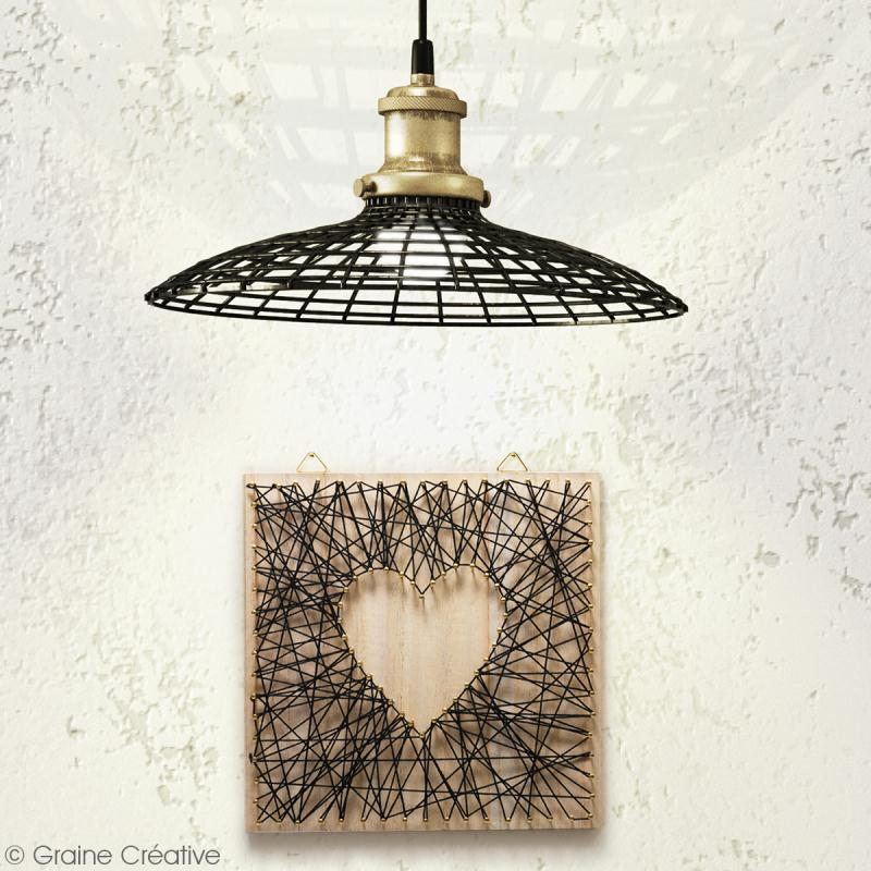 Kit tableau string art - Neutre - 22 x 22 cm - Photo n°3
