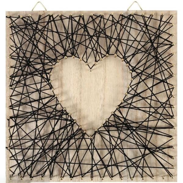Kit tableau string art - Neutre - 22 x 22 cm - Photo n°2