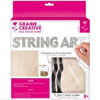 Kit tableau string art - Neutre - 22 x 22 cm