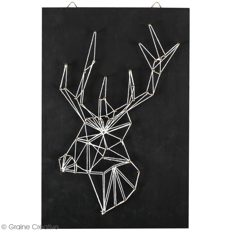 Kit tableau string art - Tête de cerf - 20 x 30 cm - Photo n°2