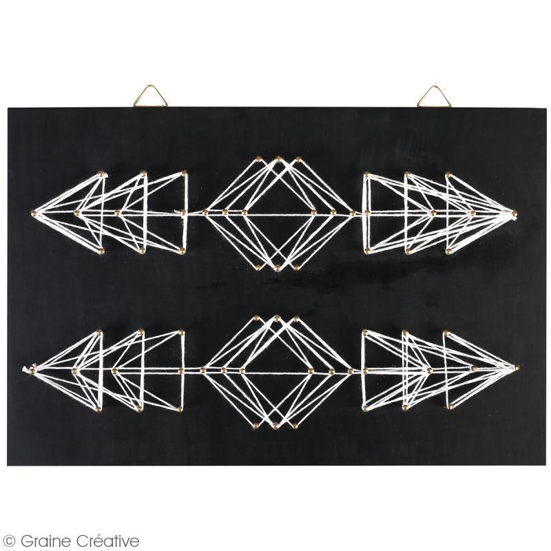 Kit tableau string art - Flèches géométriques - 30 x 20 cm - Photo n°2